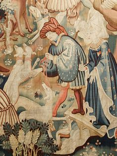 Devonshire Hunting Tapestries: Boar and Bear (Detail), 1420s