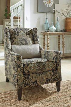 Hartigan Vintage Casual Onyx Accent Chair