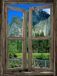 Mountain Cabin Window #3 Wall Mural  $44.95