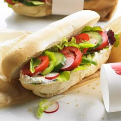 garden veggie subs...(this recipe was for kids--called for hot dog buns. I'd substitute good crusty rolls)