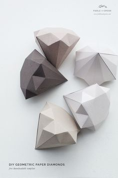 Fiddle and Spoon | DIY: Geometric Paper Diamonds | http://fiddleandspoon.com