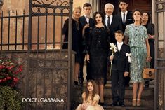 traditional Italian family for dolce & gabbana :)