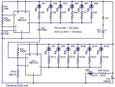 Flashing led unit circuit diagram