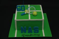 A couple of cakes from a couple of weeks ago. Tennis Cake, Tennis Party, 3d Cakes, Party Cakes, Cake Decorating, Deserts, Birthdays, Couple, Sports