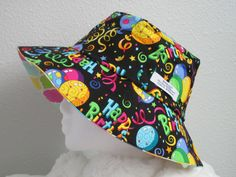 Loune Week Mens Womens Summer Feather Printting Bucket Hat Double Layers Gardening Fishing Cap Blue 1