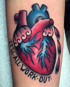 Traditional style anatomical heart by Matt Nemeth.