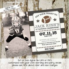 football birthday invitations baby boy shower vintage ticket party retirement couples evite birth announcement  270 shabby chic invitations www.katiedidcards.com