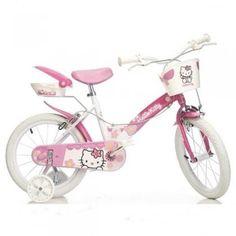 Biciclete pentru copii si in special, pentru fetiti cu model Hello Kitty  #BicicleteCopii #BicicleteHelloKitty #HelloKitty