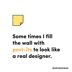 Some times I fill the wall with post-its to look like a real designer.  #ux #ui #uiux #uxui #uxdesign #uidesign #userinterfacedesign #userexperiencedesign #uxdesigner #uidesigner #app #designer #mobileapp #art #artist #dribbble #behance #adobe #sketch #interface #webdesign #uitrends #dailyui #dailydesign #instaui #graphicdesign #graphic #designinspiration #uxigers