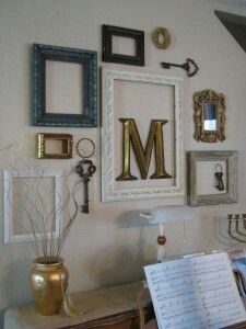 Love The Idea Of A Monogram Inside An Empty Frame