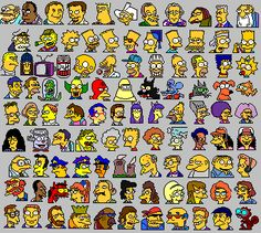 the simpsons pixel art