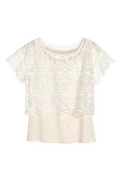 Camiseta de encaje con top