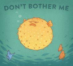 """thelifeofryan: """" Children's book cover for a school assignment. Angsty fish are super fun to draw. """""""