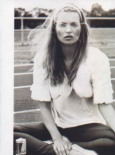 "Kate Moss photographed by Mario Testino for Vogue Paris, November 2004, ""Figures Libres"""
