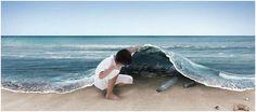 Polymeren uit #plasticsoep worden opgemomen door zee-organismen. De vervuiling is niet altijd zichtbaar.