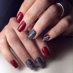 Beautiful nails 2017, Evening dress nails, Evening nails, Fall nail ideas, Festive nails, Luxury nails, Medium nails, Nails trends 2017