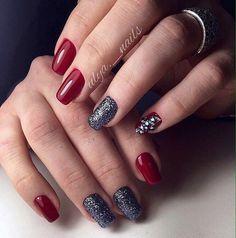Beautiful nails 2017, Evening dress nails, Evening nails, Fall nail ideas, Festive nails, Luxury nails, Medium nails, Nails trends 2017