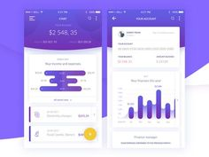 Banking app concept with finance management features. Let us know what do you think! Web Design, App Ui Design, Chart Design, Interface Design, User Interface, Mobile Ui Design, Mobile App Ui, Ui Design Inspiration, User Experience Design