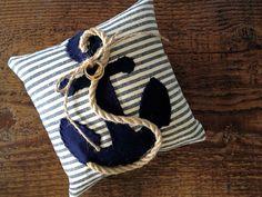 Custom nautical ring pillow anchor by EandAHeritage on Etsy, $67.00