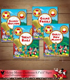 157 Best Mickey Mouse Clubhouse Invitation Party Printables Images