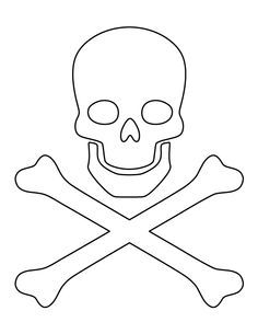 Printable Pirate Cutlass Sword Template from