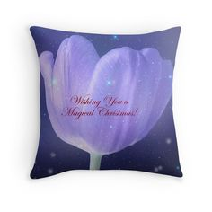 Magical Christmas Wish. A wonderful #pillow Great as a #gift #christmasgift to a friend or loved one. Wonderful #homedecor
