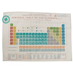 Periodic Table Tea Towel from Rex London - the new name for dotcomgiftshop. Great value gifts and homeware in original designs. Free UK delivery available. Hipster Accessories, Bar Accessories, Quirky Gifts, Unique Gifts, 6 Sigma, Mo & Co, Periodic Table Of The Elements, Online Gift Store, Doctor Who Tardis