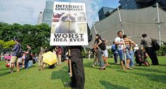 Crowds Protest Against Internet Censorship in Singapore