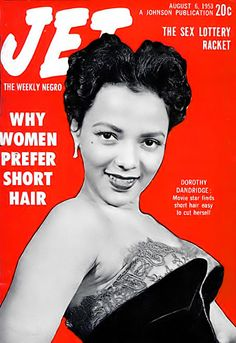 Actress, Singer Dorothy Dandridge - Jet Magazine, August 6, 1953 by vieilles_annonces, via Flickr