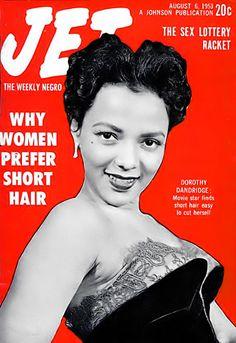 Actress, Singer Dorothy Dandridge - Jet Magazine, August 6, 1953 by vieilles_annonces, via Flickr