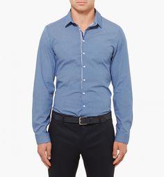 Diver Print Shirt In Blue Combo - Shirts - Clothing - Calibre