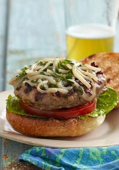 Italian Sausage Burgers – Italian sausage and ground beef are combined with an egg and a blend of cheeses to make these superb grilled burgers!