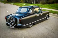 Saw this Metropolitan on the Hot Rod Power Tour a couple of years ago, has a Chevy LS motor, insane...