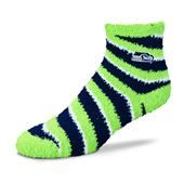 Seattle Seahawks For Bear Feet NFL Candy Cane Sleep Sock. #Seahwaks #SVSports #FanGear #NFL