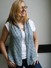 Lace Lapel Vest pattern by The Knit Knot Vest pattern and Ravelry