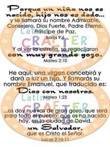 Versículos de Navidad - Latina Crafter