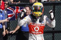 Lewis Hamilton celebra su victoria en el Gran Premio de Canada #f1 #gpcanada