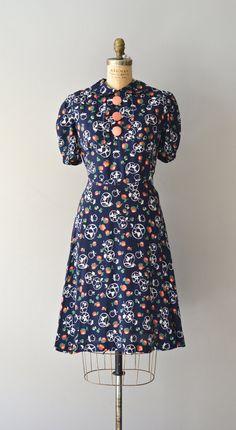 1930s dress / vintage 30s dress / Maypole dress.