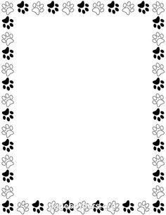 paw print border paw print border clip art free doggie rh pinterest com dog paw print border clip art bear paw print border clip art
