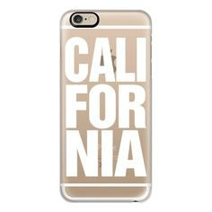 iPhone 6 Plus/6/5/5s/5c Case - California White Typography ($40) ❤ liked on Polyvore featuring accessories, tech accessories, phone cases, iphone case, white iphone case, iphone cover case and apple iphone cases