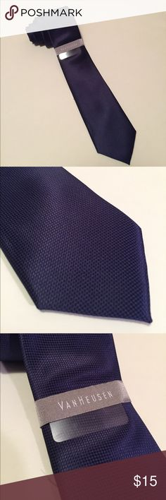 Van-Heusen Navy Tie Stunning Van-Heusen Navy Blue Tie. NWT. PRICE FIRM. NO OFFERS Van Heusen Accessories Ties