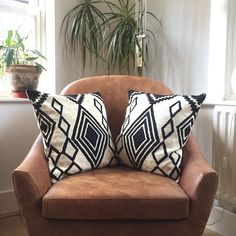 Geo lovely! Embroidered wool #cushions for #stylish #livingrooms !