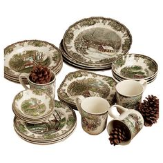 Found it at Wayfair - Johnson Brothers Friendly Village Dinnerware Set Johnson Brothers China, Johnson Bros, Christmas China, Christmas Dishes, Christmas Tablescapes, Cheap Christmas, Country Christmas, Holiday Decorations, Christmas Presents