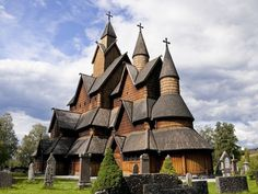 Heddal Stavkirke (church), in Heddal, Norway. Legend has it built in 3 days with the help of a troll. Z Photo, Place Of Worship, Countries Of The World, Exterior Design, My Dream, Norway, Vikings, Photo Galleries, Religion