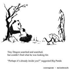 Big Panda, Little Panda, Beautiful Japanese Words, Introvert Vs Extrovert, Dragon Quotes, Tiny Dragon, Buddha Wisdom, Dragon Comic, Important Quotes