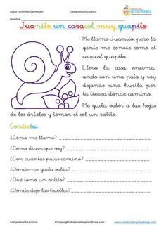 ISSUU - Fichas de comprensión lectora de Educación Primaria Spanish Class, Spanish Lessons, Learning Spanish, Learning Sight Words, Activities For Kids, Acting, Language, Science, How To Plan