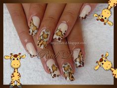 Giraffes :) by RadiD - Nail Art Gallery nailartgallery.nailsmag.com by Nails Magazine www.nailsmag.com