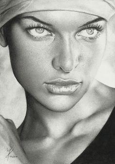 Milla by Marcusrafaelft - pencil drawing  | First pinned to Celebrity Art board here... http://www.pinterest.com/fairbanksgrafix/celebrity-art/ #Drawing #Art #CelebrityArt