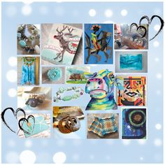 'Celebrate Handmade' by artbymarionette on Polyvore includes my acrylic painting 'Shadows and Sunlight' *** Thank you very much, Marionette.