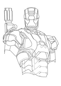 Iron Man Unmasked Coloring Page Coloring Galore Pinterest Iron